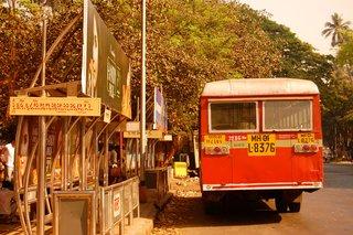 Touring India - Photo 24 of 27 - Red buses speed by in every direction. Surely they're painted red so one knows to get out of their way as they barrel toward you!