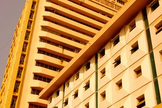 Touring India - Photo 27 of 27 - In Mumbai, architectural styles converge. Looking up towards the sky often presented unique grids and patterns created by the surrounding buildings.<br><br>Don't miss a word of Dwell! Download our  FREE app from iTunes, friend us on Facebook, or follow us on Twitter!