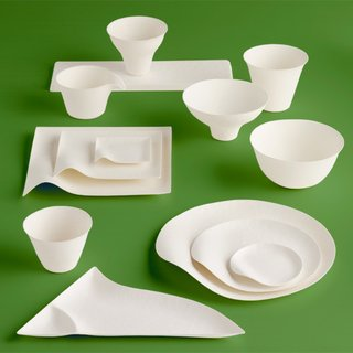 Products for the Fourth of July - Photo 1 of 3 - Maru's Wasara collection features an array of beautifully designed biodegradable picnic plates, bowls, and cups.