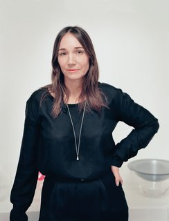Swedish designer Monica Monica Förster stands in her Stockholm studio.