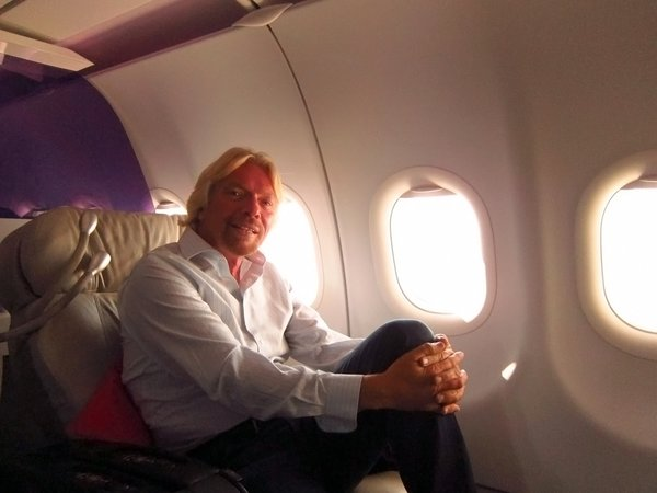 """Virgin's """"Pioneer in Chief"""" Richard Branson sits down for a quick chat."""
