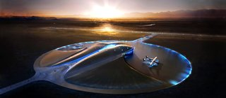 Virgin Territory: Richard Branson - Photo 3 of 4 - Virgin Galactic's New Mexico Spaceport was designed by Foster+Partners and is now under construction.