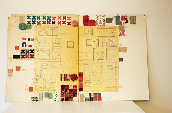 His original textile master plan for the house was recently unearthed in the property's barn. Photo 16 of Miller House in Columbus, Indiana by Eero Saarinen modern home