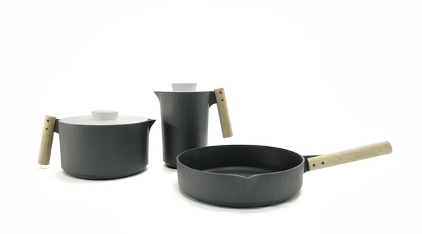 Handle Me, a collection of cast iron cookware, by Angel Wyller Aarseth.