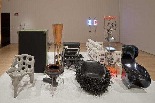 "Objects in the accompanying ""Paradesign"" exhibition reflect a critical look at design and architecture that's similar to Wong's. Photo courtesy SFMOMA."