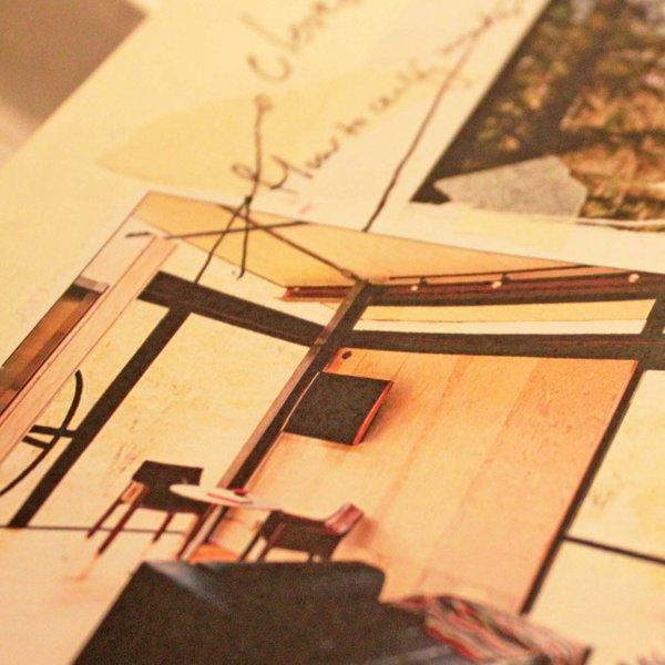 Interior design details of Tom Kundig's Delta Shelter.