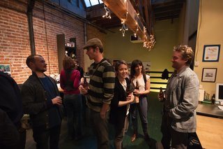 72 Hour Urban Action - Photo 4 of 6 - Another view of the social scene at REBAR. Photo by Søren Schaumburg.