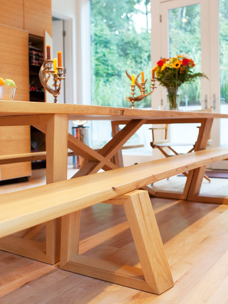 A closer look at the dining table and bench joinery. Tagged: Dining Room and Table.  Photo 21 of 25 in Come Sail Away