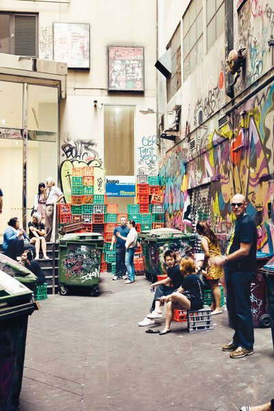 The tight, trendy, and often gritty laneways like Croft Alley attract enough of a crowd that their seedy origins never really cause much of a problem. A bar at the end of Croft Alley, the Croft Institute, is a humming watering hole and an exemplar of the city's laneway culture.