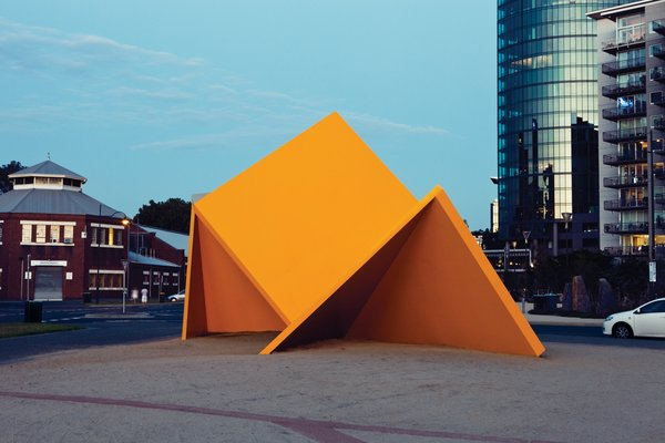 "Vault is perhaps Melbourne's most reviled piece of public art. Rechristened the ""Yellow Peril"" when it debuted downtown in 1980, Ron Robertson-Swann's work has moved twice since then. Now it resides outside the Australian Centre for Contemporary Art."