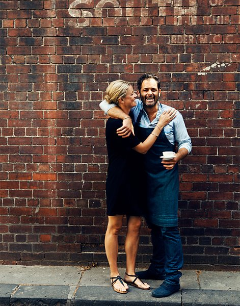 The owners of Liaison Cafe are about as affectionate and warm with their customers as this photo would have you believe.