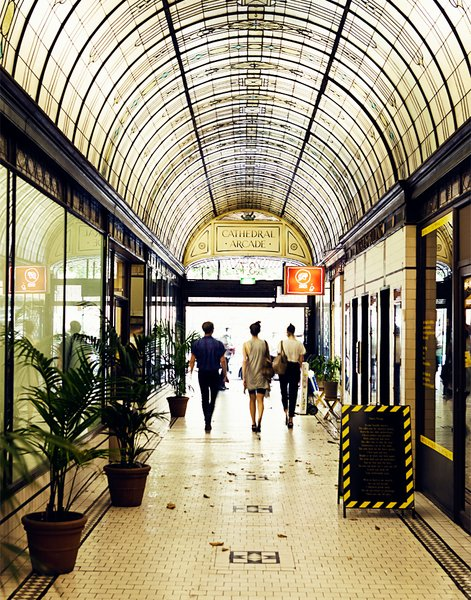The Cathedral Arcade holds loads of Melbourne's shopping, including a delightfully unusual vintage store called Alice Euphemia. That's the shop where I scored my copy of the Melbourne Design Guide, which served as my tourist bible while I was there.
