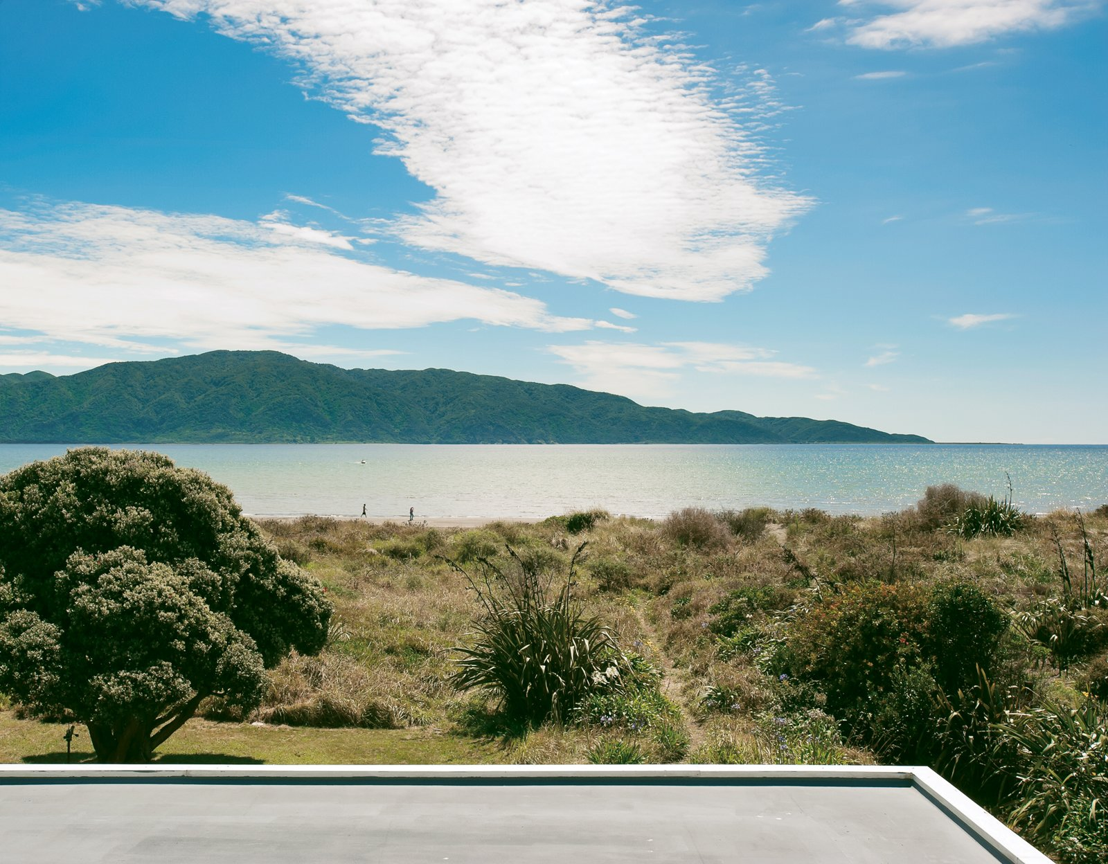 The view of Kapiti Island is fully revealed from the tower. Tagged: Outdoor, Grass, and Back Yard.  Photo 8 of 30 in Bach to the Beach