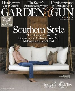 The cover of Garden and Gun magazine's August/September 2010 issue.