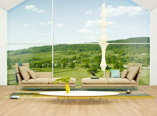 Suita Sofa by Antonio Citterio - Photo 6 of 7 - The ideal setup for a long wall of windows: a chaise shape with headrest.