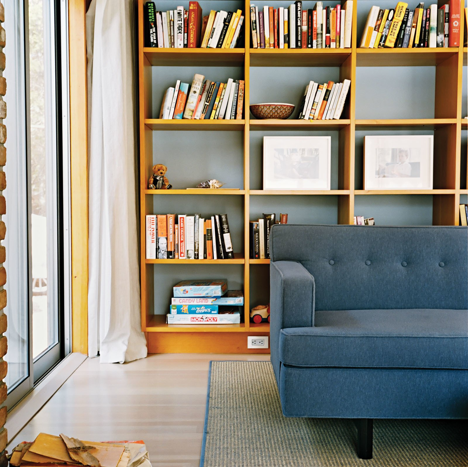 In the living room, a warm woodsy palette reigns, with a few blue-gray notes to create a serene mood. Tips for Creating a Comfortable Living Room by Drew McGukin