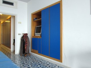 Gio Ponti's Parco dei Principi Hotel - Photo 8 of 29 - Blue laminate is also featured prominently in the built-in cabinetry.
