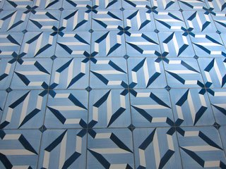 Perhaps the hotel's most distinctive features are the 30 custom tile patterns, which Ponti designed; they were executed by a local producer, Ceramica D'Agostino, in nearby Salerno. Our room featured the first pattern he conceptualized, which was purportedly his favorite.