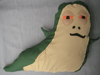 Jabba the Hutt Pillow - Photo 3 of 21 - Here's the little guy, all finished.
