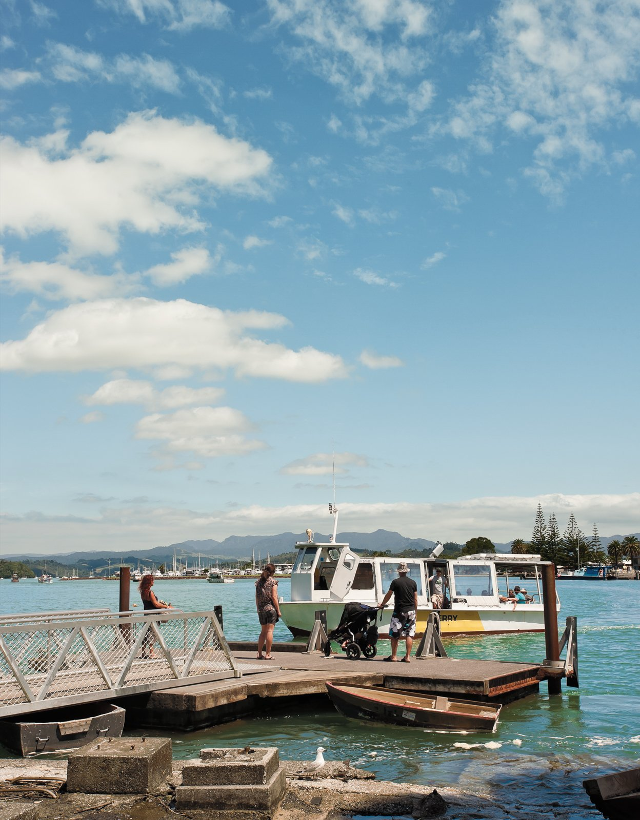A short walk down the road, a ferry service carries passengers on the two-minute journey across the channel to the small town of Whitianga.