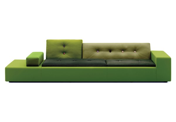 Kelsey Keith: Hella Jongerius's Polder sofa for Vitra is a striking form on its own, and the pieced-together design has had a trickle-down effect on contemporary sofas since.