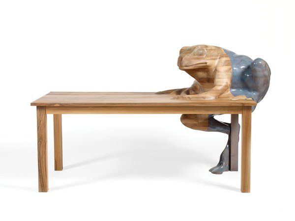 "2009Frog Table for Galerie Kreo. ""For me, decoration is a bridge between user and object. With Frog Table, I was trying to see how far I could take it."" —Hella Jongerius"