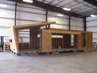 Ecofabulous House - Photo 2 of 3 - The pieceHome under construction in a warehouse in Kalamath Falls, Oregon.