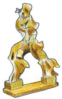 1913<br><br>Boccioni completes his sculpture <br><br>Unique Forms of Continuity in Space.
