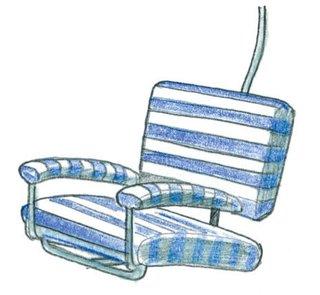 1940<br><br>Franco Albini designs Seggiovia chair.