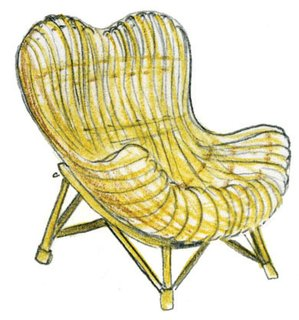 1950<br><br>Franco Albini designs Gala chair.
