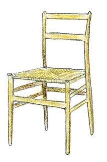 1957<br><br>Gio Ponti designs Superleggera chair.