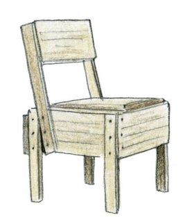 1973<br><br>Enzo Mari designs Autocostruzione chair.