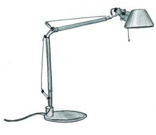 1986<br><br>Michele de Lucchi and Giancarlo Fassina design Tolomeo lamp.