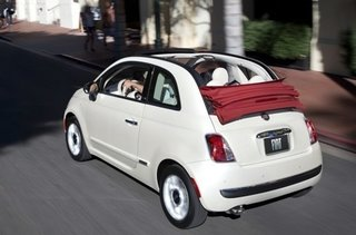 "The 2012 Fiat 500 is so new it's a fresh face on the streets of L.A. It's appeal, according to Cogan, is that it's ""a fun and nostalgic design, has high fuel efficiency from its gasoline engine, it's fun to drive, and has a great retracting soft top."""
