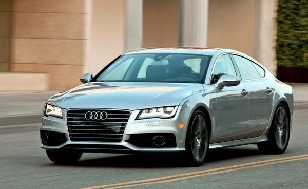"Audi is bringing its A7 sedan to the ride-and-drive to illustrate how its advanced design, low aerodynamic drag, and extensive use of lightweight aluminum helps overall efficiencies. ""Elegant design and sophisticated performance,"" in Cogan's estimation."