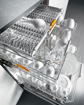 Miele's new Futura dishwasher makes its debut at the show.