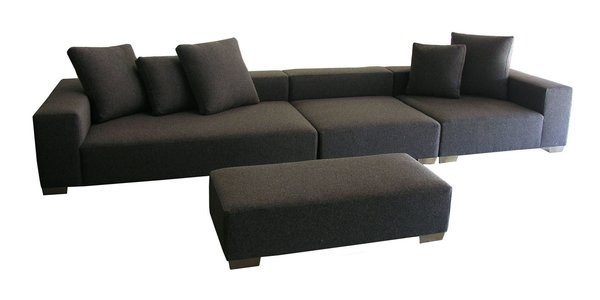 Rest your feet with a sit on Hold It Contemporary Home's new Lola Sectional sofa.
