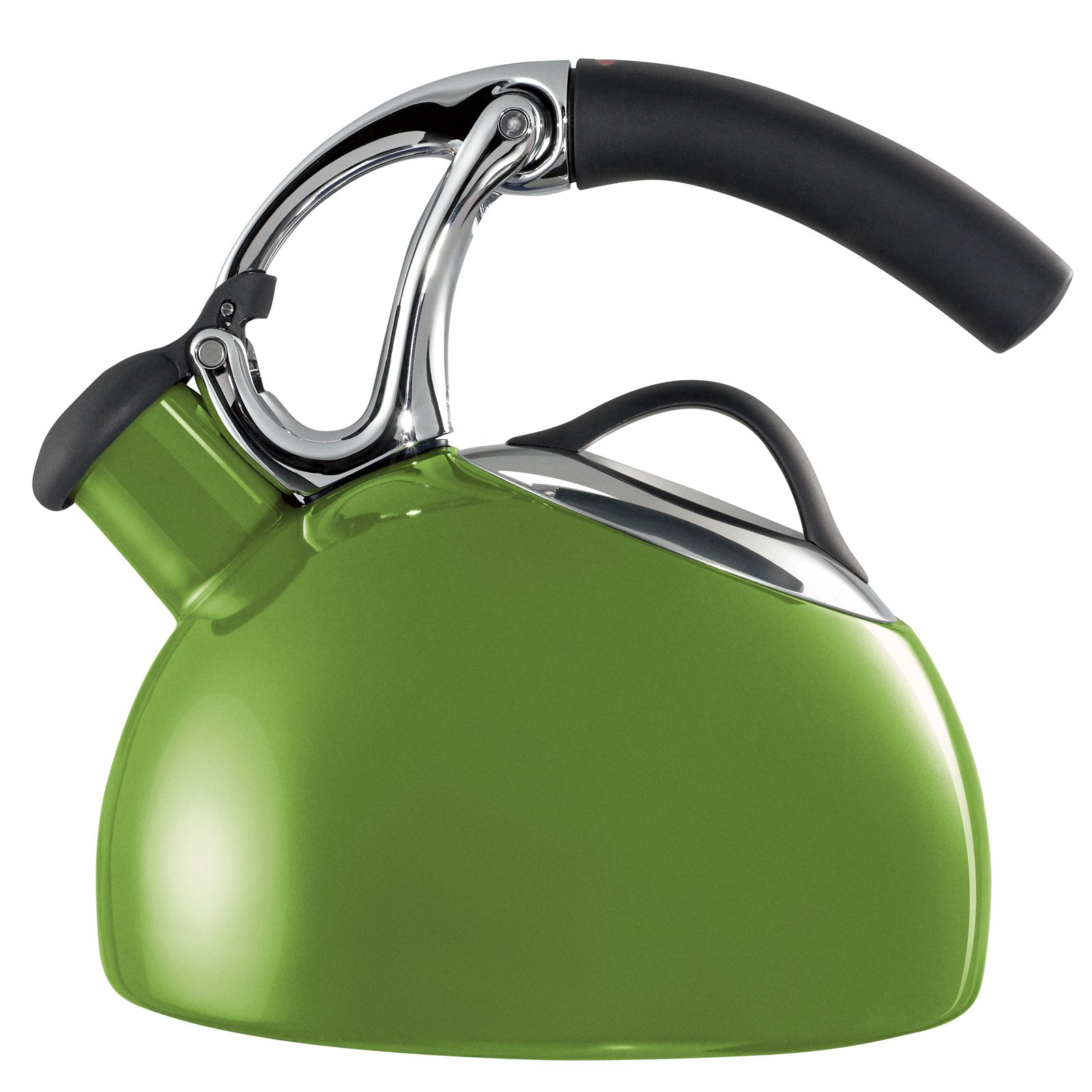 Heat water the old-fashion way with the Uplift Tea Kettle, available now. The two-quart kettle features a nonslip heat-resistant handle, stainless steel finishes, and green or eggplant coloring. The spout has a built-in whistle to alert you when your water is boiling and it automatically opens when you lift the handle, meaning that even if you've lost some of your grip strength, you can still pour a cup for your afternoon tea.  New from OXO by Miyoko Ohtake