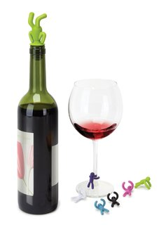 Products for the Fourth of July - Photo 2 of 3 - The new Drink Buddy wine topper and wine glass identifiers from Umbra.