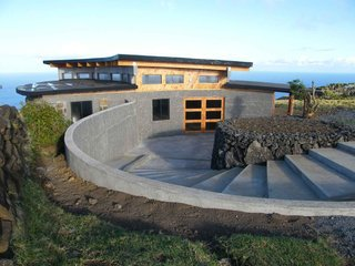 Easter Island's Visitor's Center - Photo 4 of 6 - This is the main access ramp and front door of the completed center, looking east. Photo by Eduardo Villafranca, CONAF/World Monuments Fund.