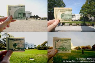 Monuments and the currency with their likenesses.