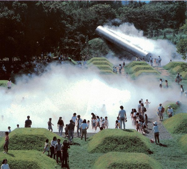 Its Children's Forest has a landscape of mysterious pyramids that fills with fog for misty hide and go seek, giant marshmallow-like jumping pillows, and native rocks used to make mythic dragons and climbing walls that are way more interesting to scale than those of the plastic foothold variety.<br><br>Photo via Wikimedia Commons