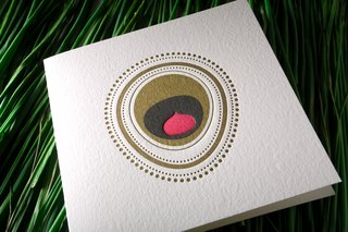 The Peacock card in an earthier color range.