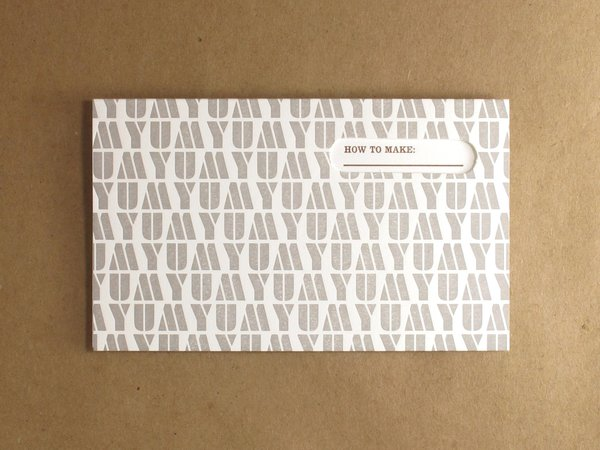 This recipe card gets right to the point of what the inside instructions will yield. The three-inch-tall, five-inch-wide, folded cards fit in standard-size recipe boxes.
