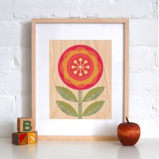 Red Flower, a new print.