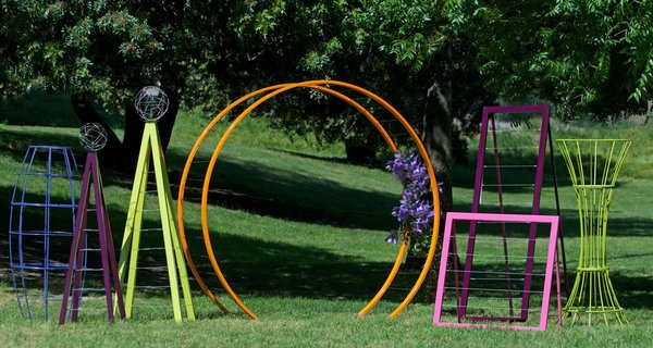The TerraTrellis collection featured nine trellises, each available in one of seven colors).