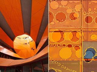 Gerald Parsonson's Favorite Buildings - Photo 2 of 8 - Two close-ups of the Orange Cube.