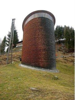 The Peter Zumthor-designed St. Benedict Chapel in Switzerland.