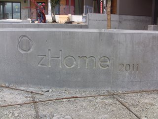 A Zero-Energy Community: Part 1 - Photo 3 of 8 - I have a bit of a fetish for concrete inlays. This is our project logo.