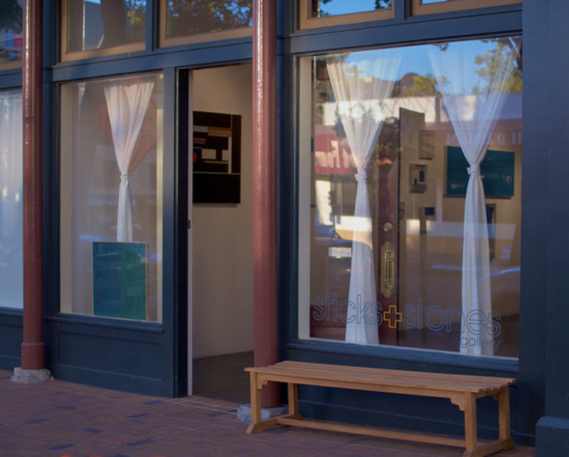 The exterior of Sticks & Stones Gallery in downtown Oakland. Photo by Beat Exposure.